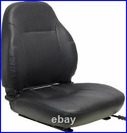 John Deere Excavator Seat Assembly Fits Various Models Black Vinyl