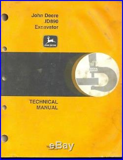 John Deere JD890 890 Excavator Technical Shop Repair Service Manual
