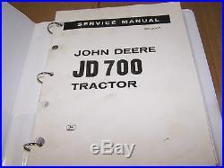 John Deere Jd700 Tractor Service Manual Sm-2067