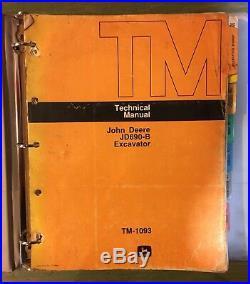 John Deere Jd 690b Excavator Technical Service Repair Manual Tm-1093