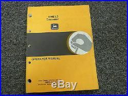 John Deere Model 690E LC Excavator Owner Operator Maintenance Manual OMT154565