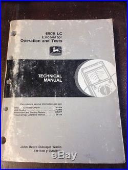John Deere OEM 690E LC Technical Manual Repair Excavator