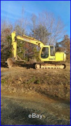 John deere 120 excavator 8642 hours, 89 h/p