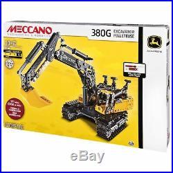 Meccano 380G John Deere Excavator, 6038204 NEW