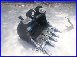 New 24 Excavator Bucket for John Deere 27 ZTS or 35 ZTS