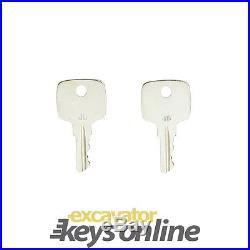 New 2 Master John Deere Keys for all Graders, Dozers, Skidsteers etc