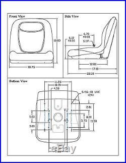 New Grey HIGH BACK SEAT for John Deere Excavator 890 & Forklift Fork Truck 488E