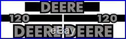 New John Deere 120 Excavator Decal Set with 12' x 5 Black Stripe JD Decals