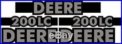 New John Deere 200LC Excavator Decal Set with 20' x 5 Black Stripe JD Decals