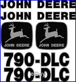 New John Deere 790-DLC Excavator Decal Set JD Decals