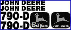 New John Deere 790-D Excavator Decal Set JD Decals