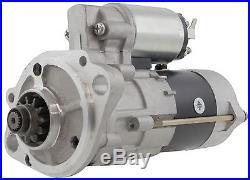 New Starter Motor John Deere Excavator w Isuzu 4LE2X Diesel 24 Volt 11 Tooth