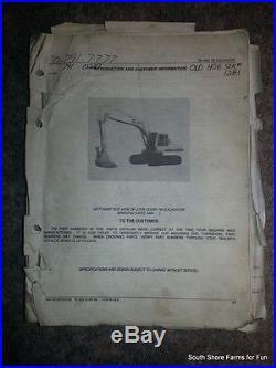 ORIGINAL JOHN DEERE JD 790 792 EXCAVATOR TRACK HOE PARTS MANUAL PC1975