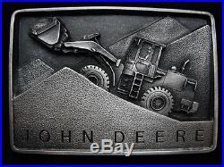 Oj13144 Nos Vintage 1988 John Deere Excavator Tractor Pewter Belt Buckle