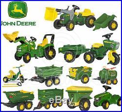 Rolly Toys John Deere Pedal Tractors Trailers Loader Tanker Trike Spreader NEW