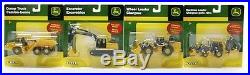 SET of 4 164 ERTL John Deere BACKHOE DUMP TRUCK EXCAVATOR LOADER Toys NIP