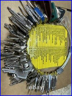 The Ultimate Construction Equipment Key Set 100 Keys! With Laminated Key ID Card