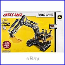 Toys-Meccano 380G John Deere Excavator /Toys (UK IMPORT) TOY NEW