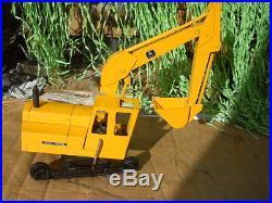 Vintage Ertl John Deere Industrial Excavator Backhoe Missing Track Tractor