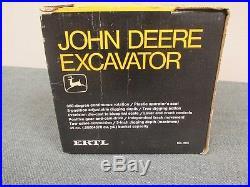 Vtg Ertl JOHN DEERE Excavator 1/25 Black & Yellow Box #505 NOS New in Box